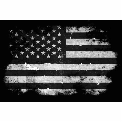 Clip art black and white american flag